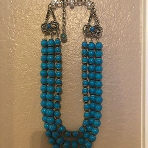 Ollipop 3-Tier Turquoise Beaded Necklace- NWOT